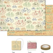 Cavallini Vintage Bicycles Gift Wrap Pack