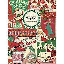 Cavallini Vintage Christmas Gift Wrap Pack