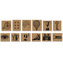 Curiosities  Rubber Stamp Set