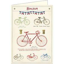 Cavallini Bonjour Bicycles Card