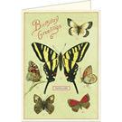 Cavallini Happy Birthday Butterflies Card