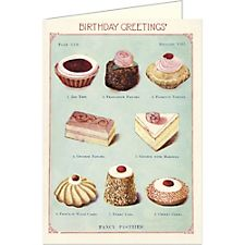 Cavallini Happy Birthday Sweets Card
