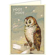 Cavallini Hoot Hoot Owl Card