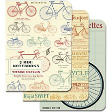 Cavallini Vintage Bicycles Mini Notebooks