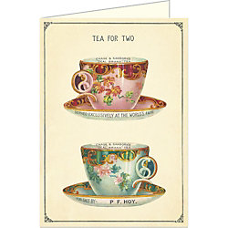 Cavallini Tea for Two Card