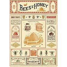 Cavallini Bees & Honey Wrapping Paper