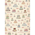 Cavallini Happy Birthday Cake Wrapping Paper