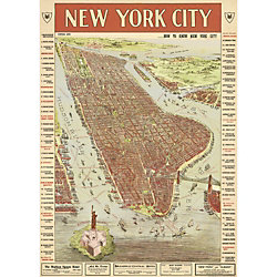 Cavallini New York City Map 3 Wrapping Paper