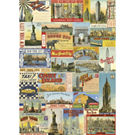 Cavallini New York City Postcards Wrapping Paper