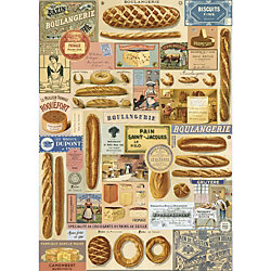 Cavallini Boulangerie Wrapping Paper
