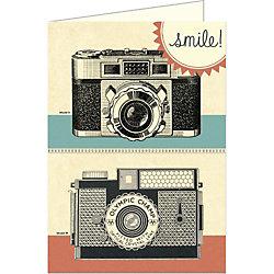 Cavallini Smile Vintage Camera Card
