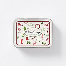Cavallini Christmas Rubber Stamps
