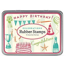 Cavallini Celebrations Rubber Stamp Set