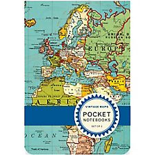 Cavallini Vintage Maps Pocket Notebooks