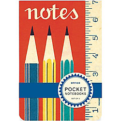 Cavallini Office Pocket Notebooks