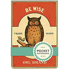 Cavallini Owls Pocket Notebooks