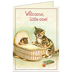 Cavallini Baby Cats Card