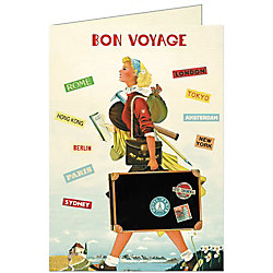 Cavallini Bon Voyage Card