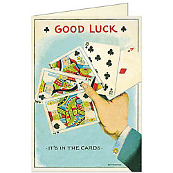 Cavallini Good Luck Card