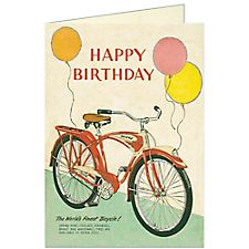 Cavallini Bicycles Birthday Card #1