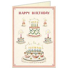 Cavallini Cake Birthday Card