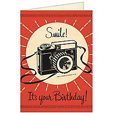 Cavallini Camera Birthday Card