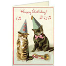 Cavallini Cats Birthday Card