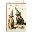 Cavallini Cats Birthday Card