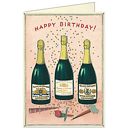 Cavallini Champagne Birthday Card
