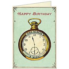 Cavallini Clock Birthday Card