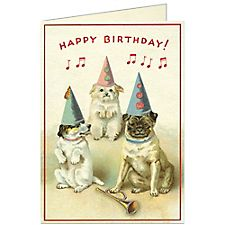 Cavallini Dogs Birthday Card #2