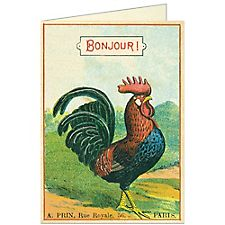 Cavallini Bonjour Rooster Card