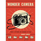 Cavallini Wonder Camera Wrapping Paper