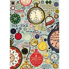 Cavallini Vintage Clocks Wrapping Paper