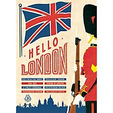 Cavallini Hello London Wrapping Paper