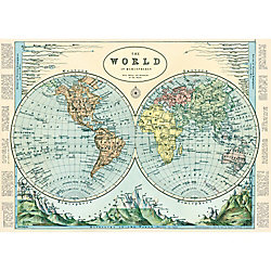 Cavallini Hemispheres 2 Wrapping Paper