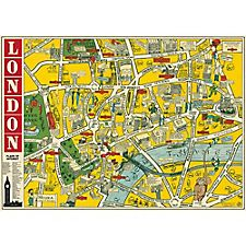 Cavallini London Map 3 Wrapping Paper