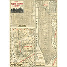 Cavallini New York 4 Wrapping Paper