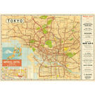 Cavallini Tokyo Map Wrapping Paper