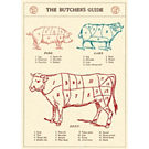 Cavallini Butcher's Guide Wrapping Paper