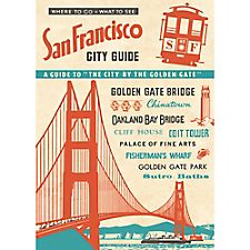Cavallini San Francisco Guide Wrapping Paper