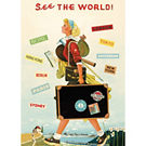 Cavallini See the World Wrapping Paper