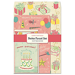 Cavallini Happy Birthday Petite Parcel Set