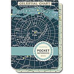 Cavallini Celestial Pocket Notebooks