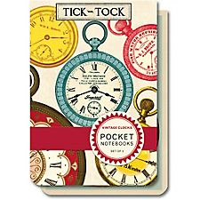 Cavallini Vintage Clocks Pocket Notebooks
