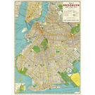 Cavallini Brooklyn Map Wrapping Paper
