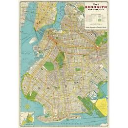 Brooklyn Map Transit Guide Flat Wrap