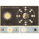 Cavallini Phases of the Moon Wrapping Paper