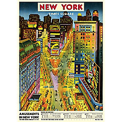 Cavallini New York Times Square Wrapping Paper