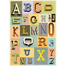 Cavallini Vintage Typography Wrapping Paper